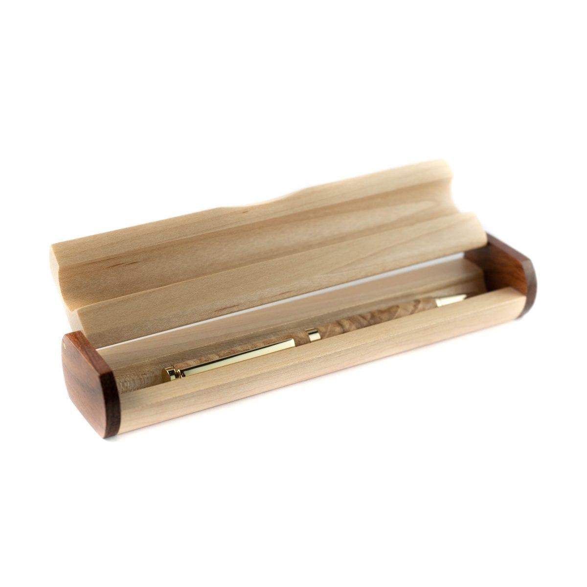 Handgemaakte houten Pen Doos - Unieke houten Pennendoos