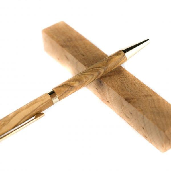 Olijf Balpen - Unieke Houten Pen